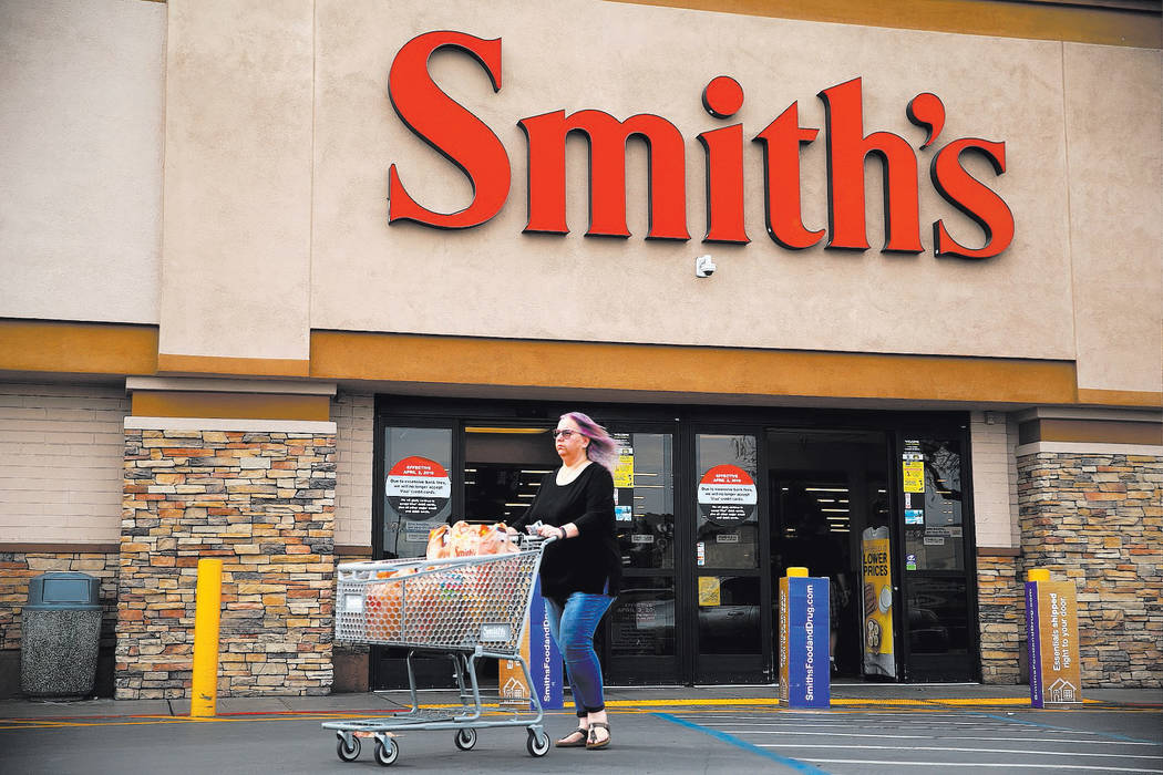The Smith's grocery store at 850 S Rancho Dr, in Las Vegas, Friday, March 1, 2019. Smith's is ...
