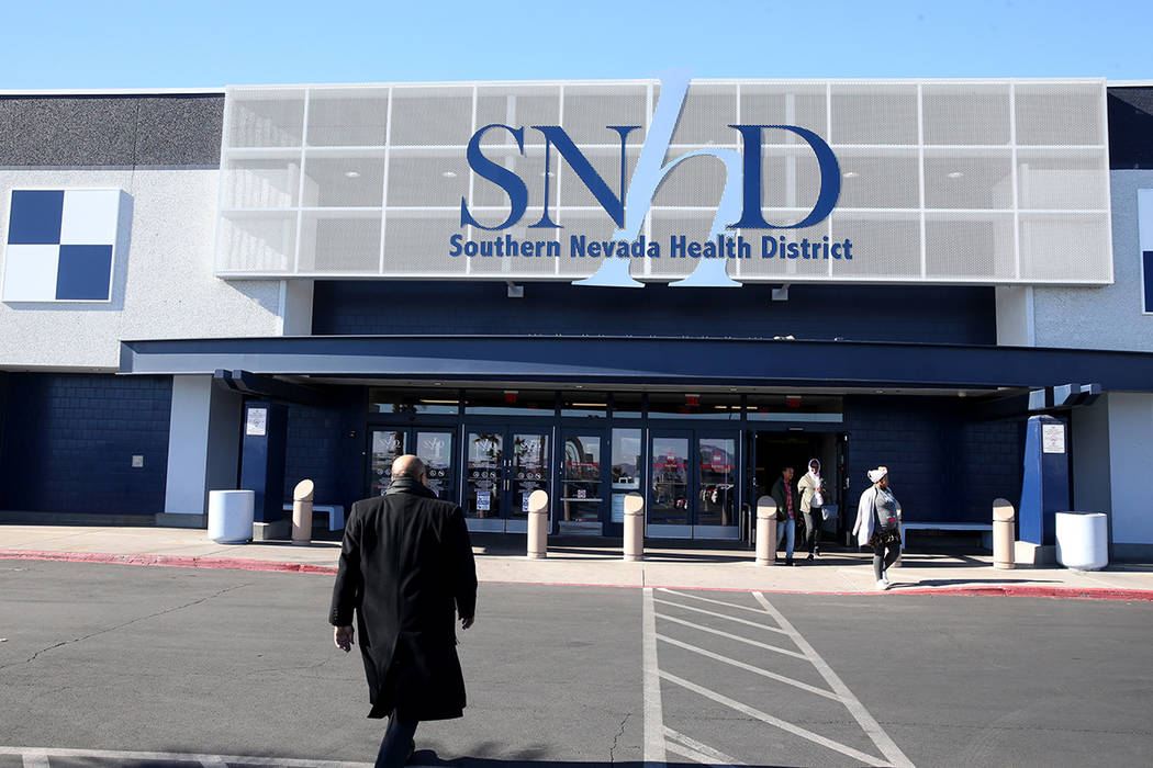 K.M. Cannon/Las Vegas Review-Journal The Southern Nevada Health District at 280 S. Decatur Blvd ...