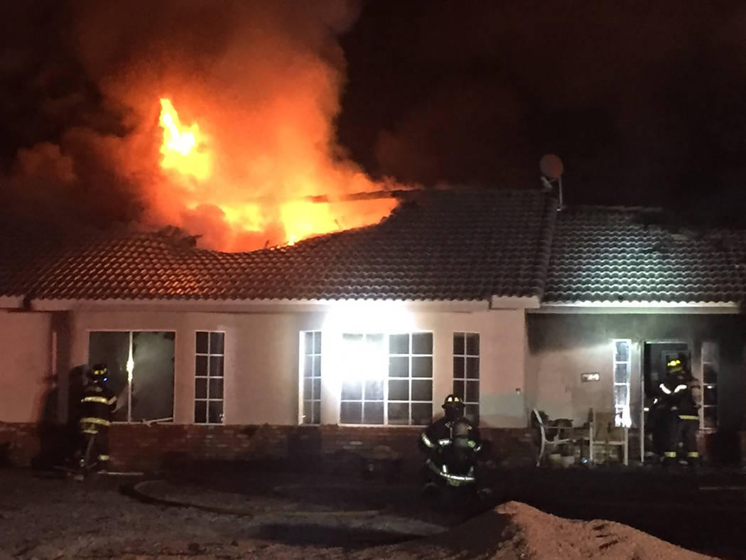 Special to the Pahrump Valley Times On Wednesday February 26, fire crews were summoned to a str ...