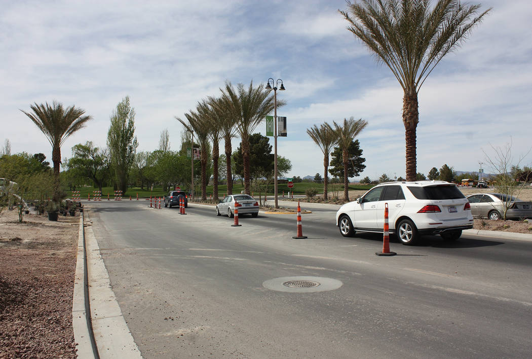 Robin Hebrock/Pahrump Valley Times Taken on April 4, this photo shows cars entering Mountain Fa ...