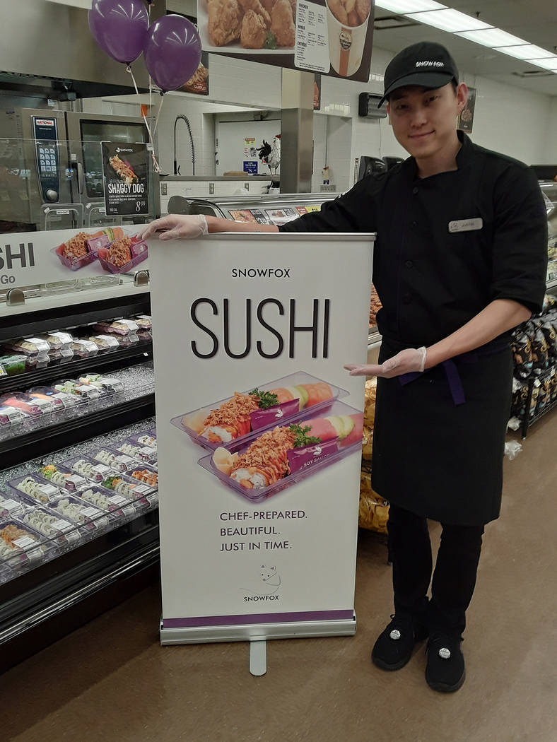 Selwyn Harris/Pahrump Valley Times Sushi Chef Justin Pyung displays the new Sushi Station, as p ...