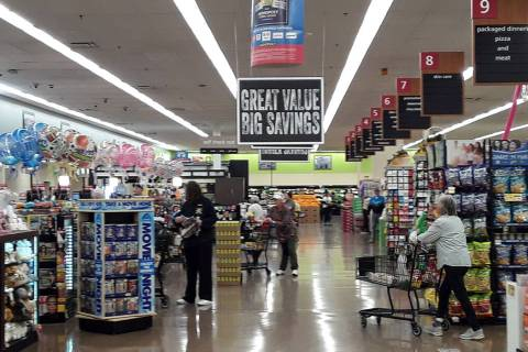 Selwyn Harris/Pahrump Valley Times Shoppers at Pahrump's Albertsons will notice an enhanced ima ...