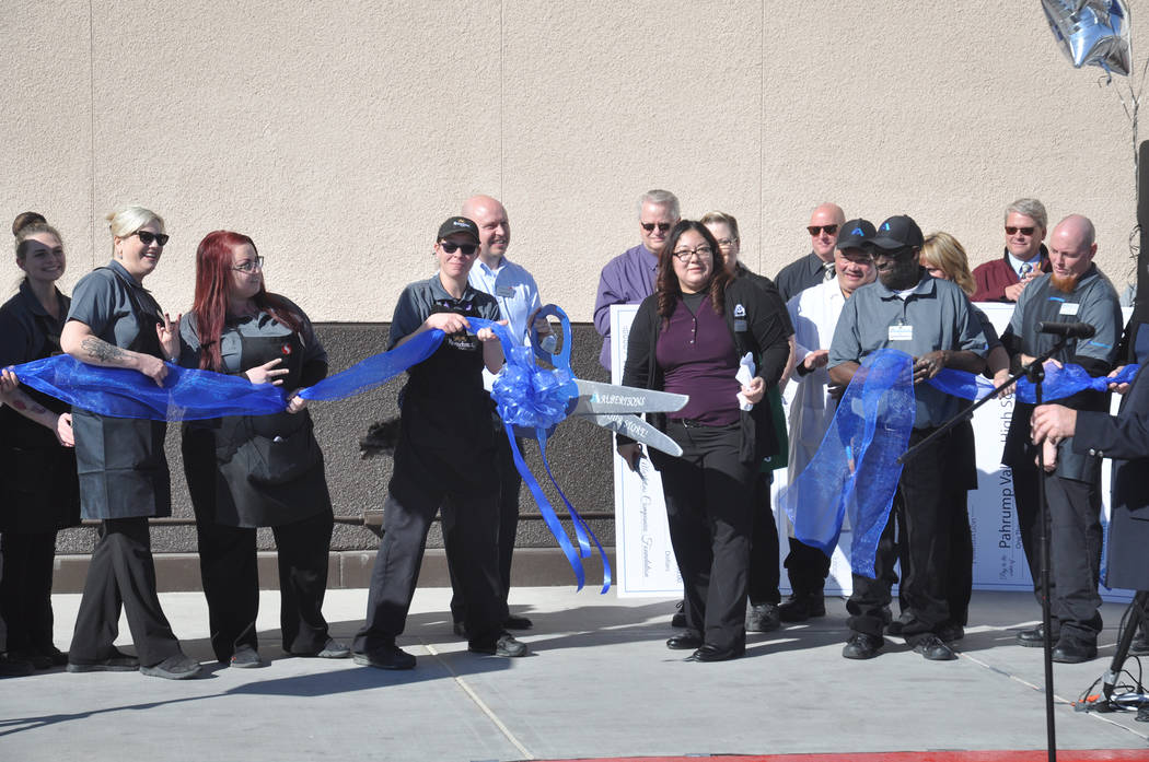Horace Langford Jr./Special to the Pahrump Valley Times Albertsons in Pahrump holds a grand r ...
