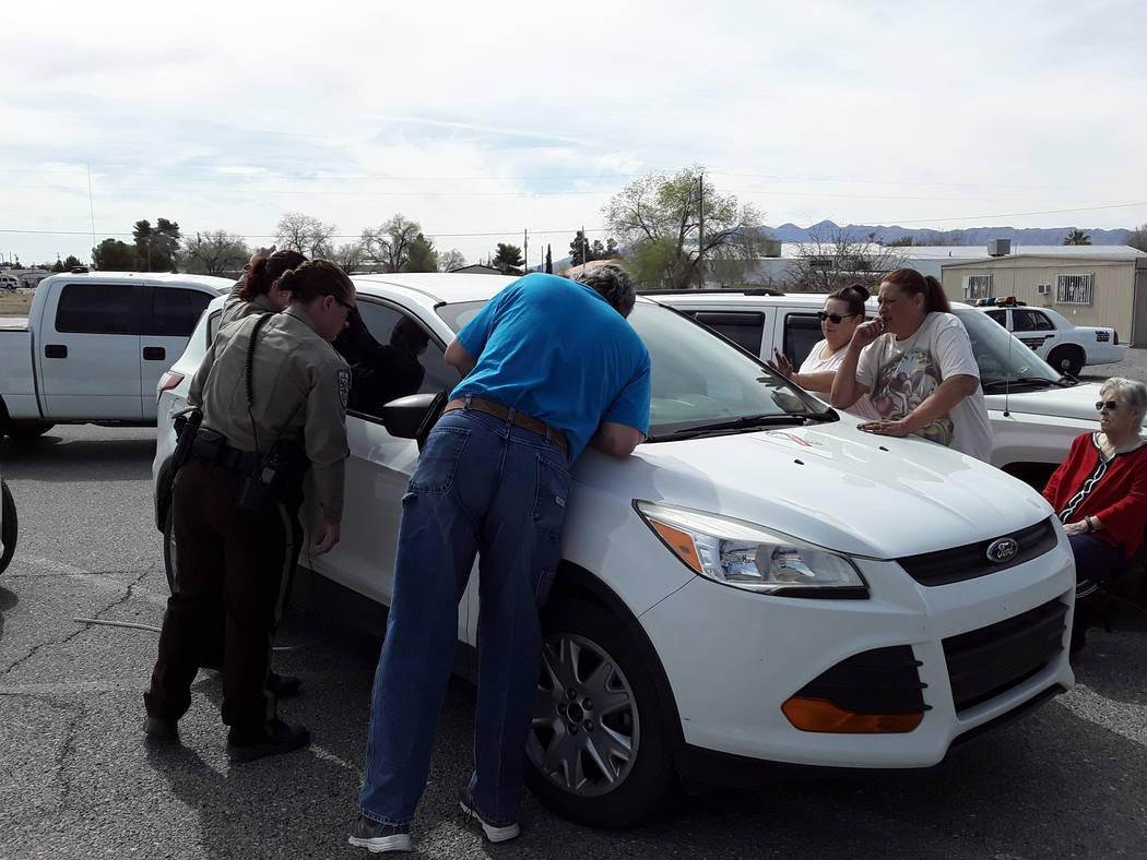 Selwyn Harris/Pahrump Valley Times Members of the Pahrump Moose Lodge 808 offer sheriff's deput ...