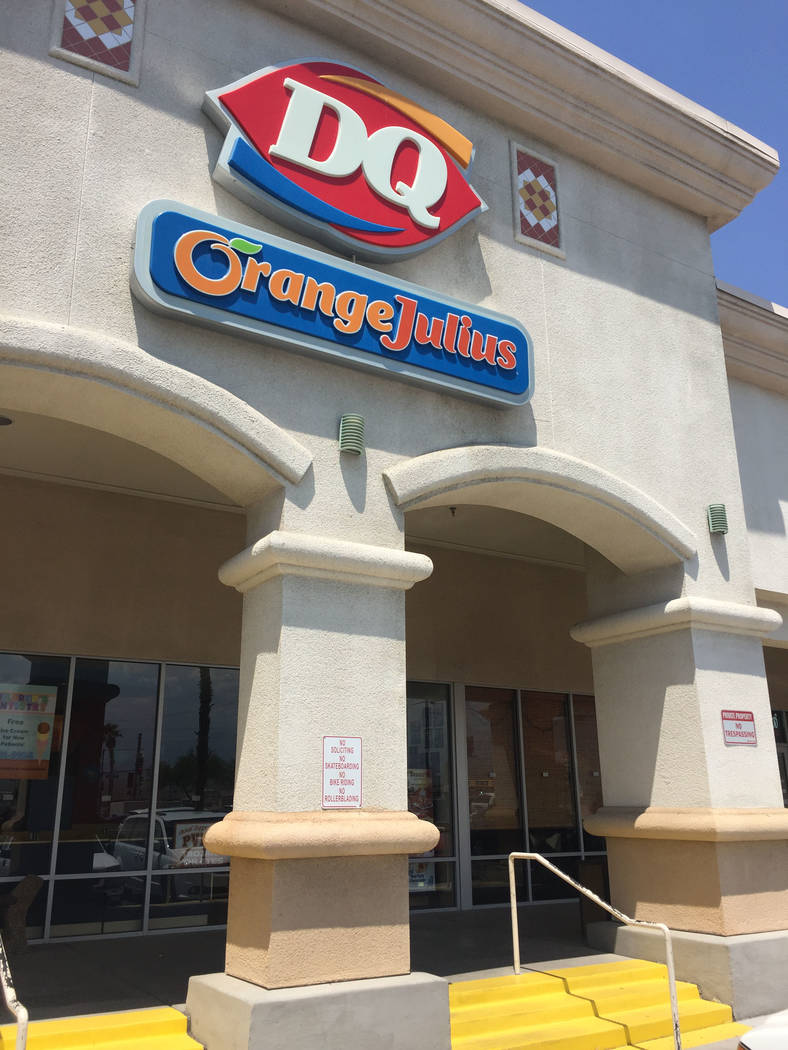 Jeffrey Meehan/Pahrump Valley Times Dairy Queen is celebrating its 80th year in business. The c ...