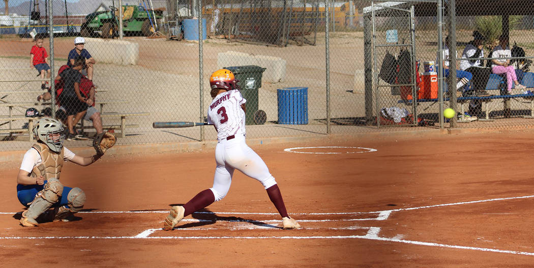 Cassondra Lauver/Special to the Pahrump Valley Times Ashliegh Murphy keeps her eye on the ball ...