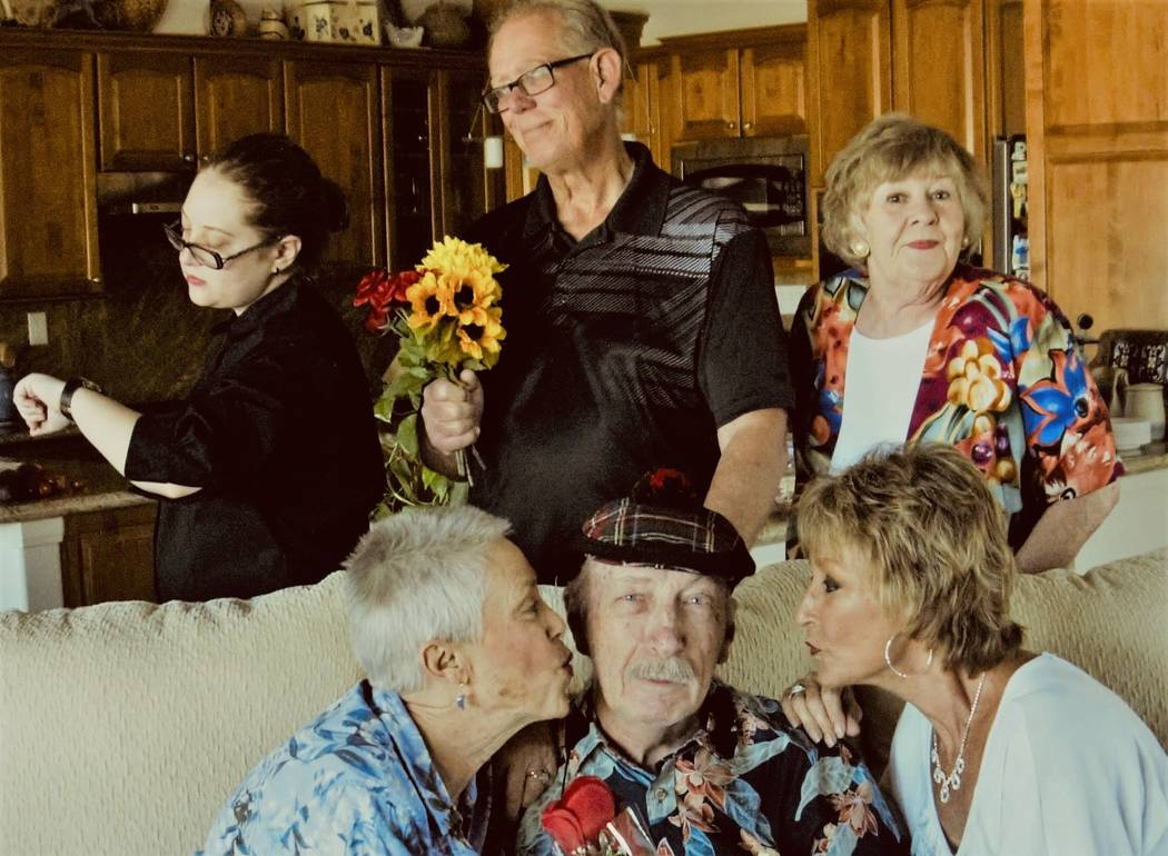 File photo/Special to the Pahrump Valley Times Actor Carlton McCaslin, front and center, and th ...