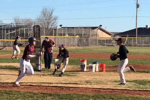 Tom Rysinski/Pahrump Valley Times file photo The Pahrump Valley High School baseball team again ...