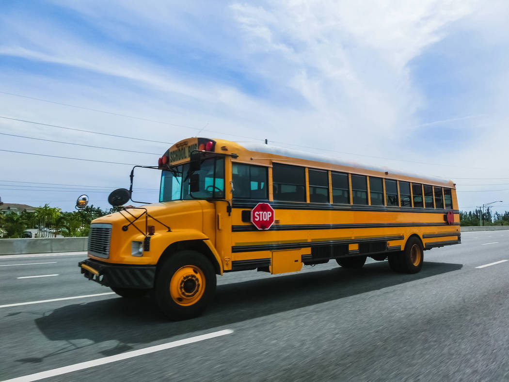 Getty Images Horace Langford Jr./Pahrump Valley Times Nye County School District travel restr ...