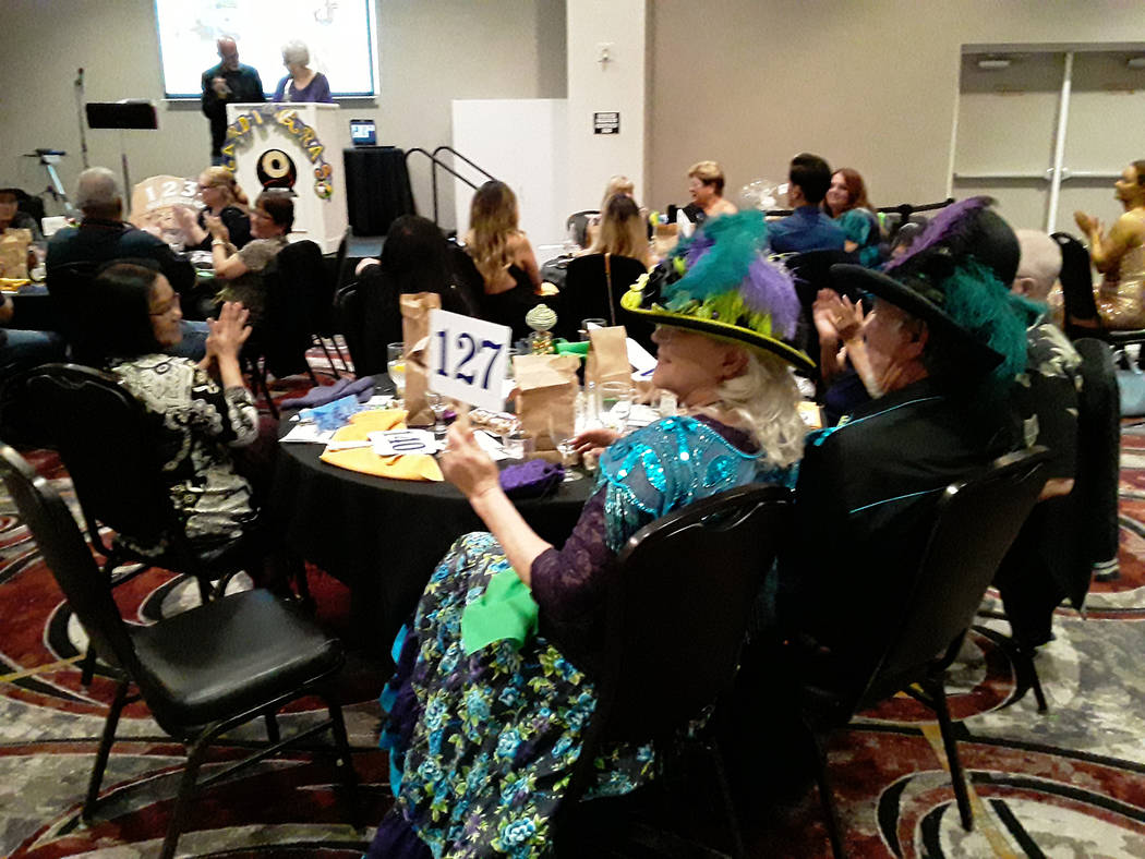 Selwyn Harris/Pahrump Valley Times Some of the attendees dressed up in traditional Mardi Gras a ...