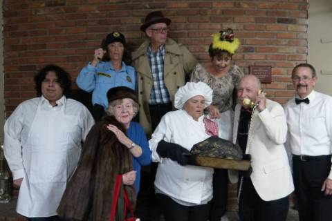"""Special to the Pahrump Valley Times The cast of """"Murder Most Fowl"""" are Andre Espinoza, Maaike M ..."""