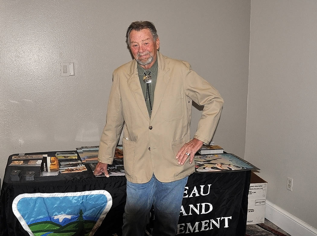 Horace Langford Jr./Pahrump Valley Times Karl Olson, the caretaker of Rhyolite was recognized ...