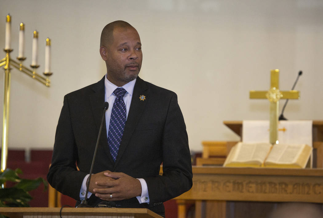 FILE-Nevada Attorney General Aaron Ford speaks during the implementing of Assembly Bill 431at ...