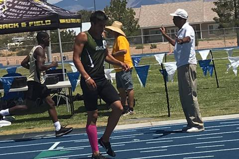 Pahrump Valley Times file photo Beatty's Jose Granados, shown after one of his three record-set ...