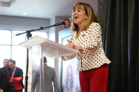 UNLV's President Marta Meana, seen in December 2019. (Erik Verduzco / Las Vegas Review-Journal)
