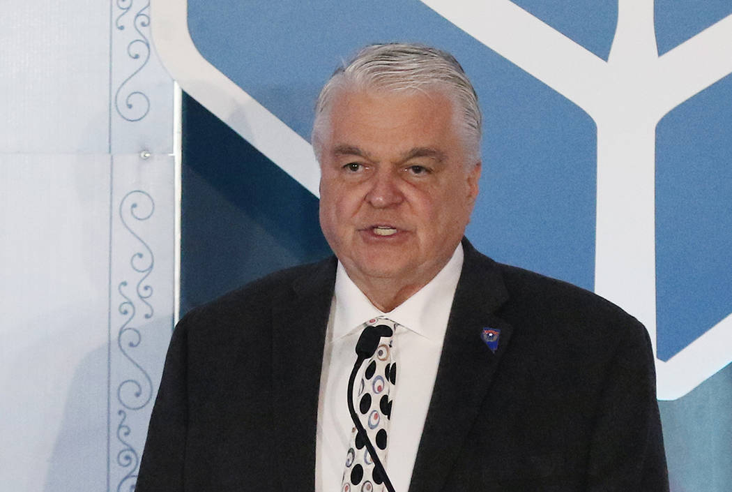 Gov. Steve Sisolak received more than $1.6 million in political contributions in 2019. (Bizuaye ...