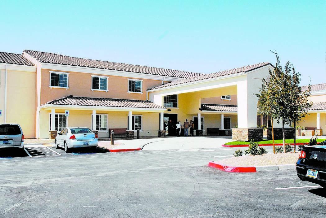 Horace Langford Jr. / Pahrump Valley Times Inspirations Senior Living facility in Pahrump insti ...