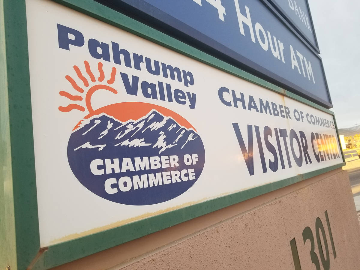 David Jacobs/Pahrump Valley Times The Pahrump Valley Chamber of Commerce's headquarters is loca ...