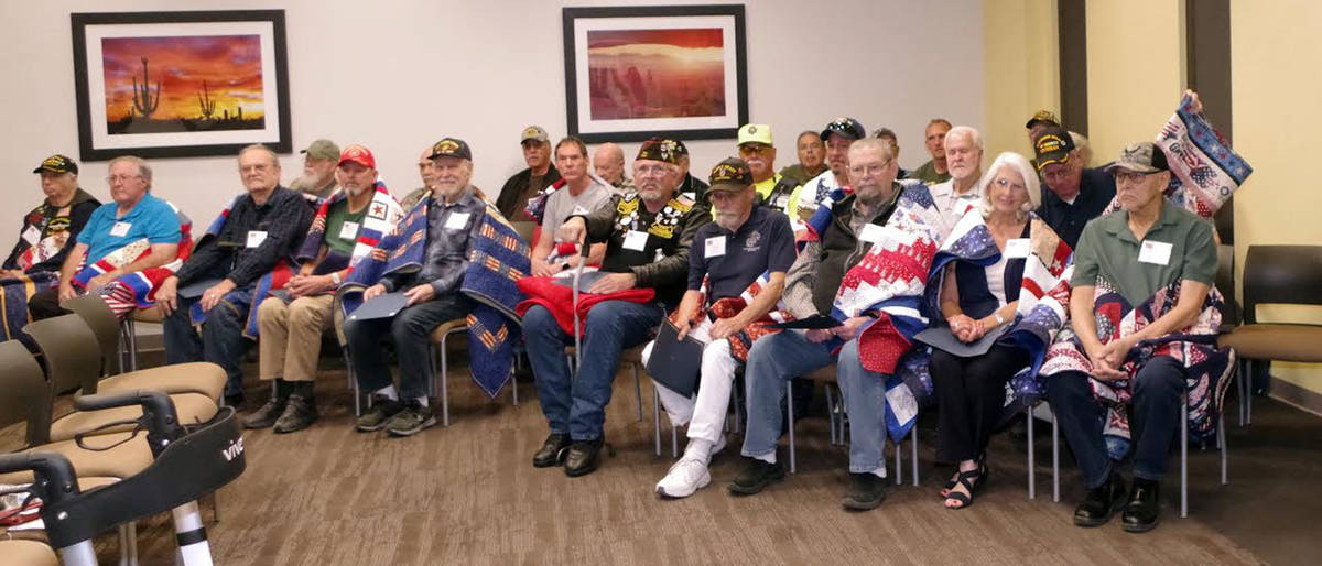 Ralph Goff/Special to the Pahrump Valley Times This photo shows a group shot of the veterans wh ...
