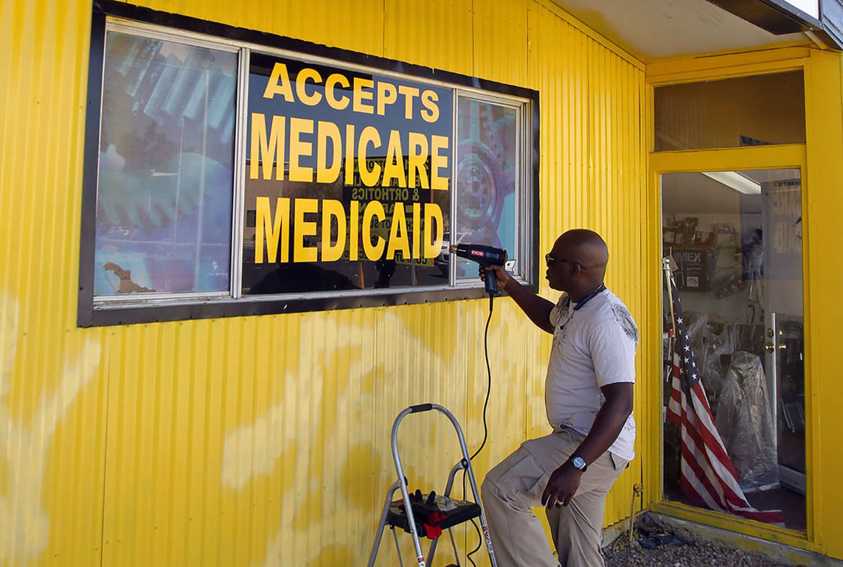 K.M. Cannon/Special to the Pahrump Valley Times Nevada Medicaid announced expanded coverage for ...