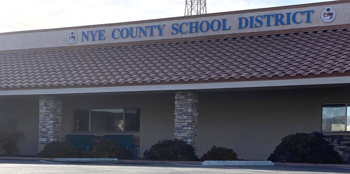 Jeffrey Meehan/Pahrump Valley Times The Nye County School District Southern District office at ...