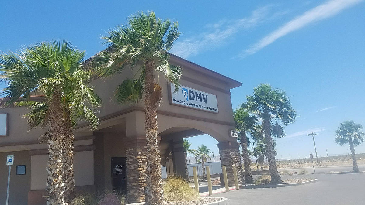 David Jacobs/Pahrump Valley Times Pictured is the Pahrump DMV office. Nevada DMV offices were c ...