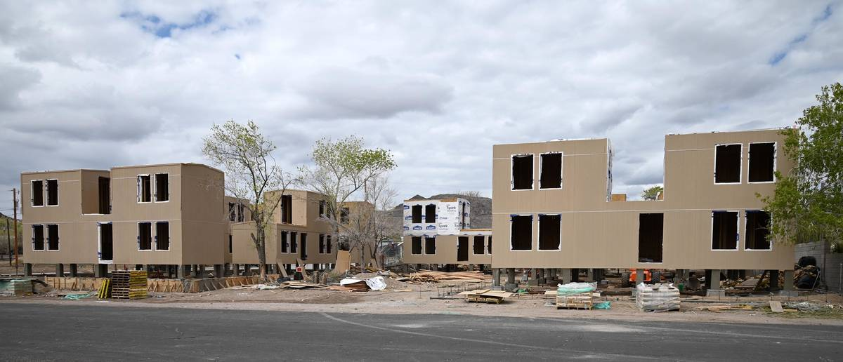 Richard Stephens/Special to the Pahrump Valley Times Construction is progressing on a cluster o ...