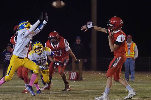 Times-Bonanza & Goldfield News file photo Tonopah High School quarterback Dillan Otteson, shown ...