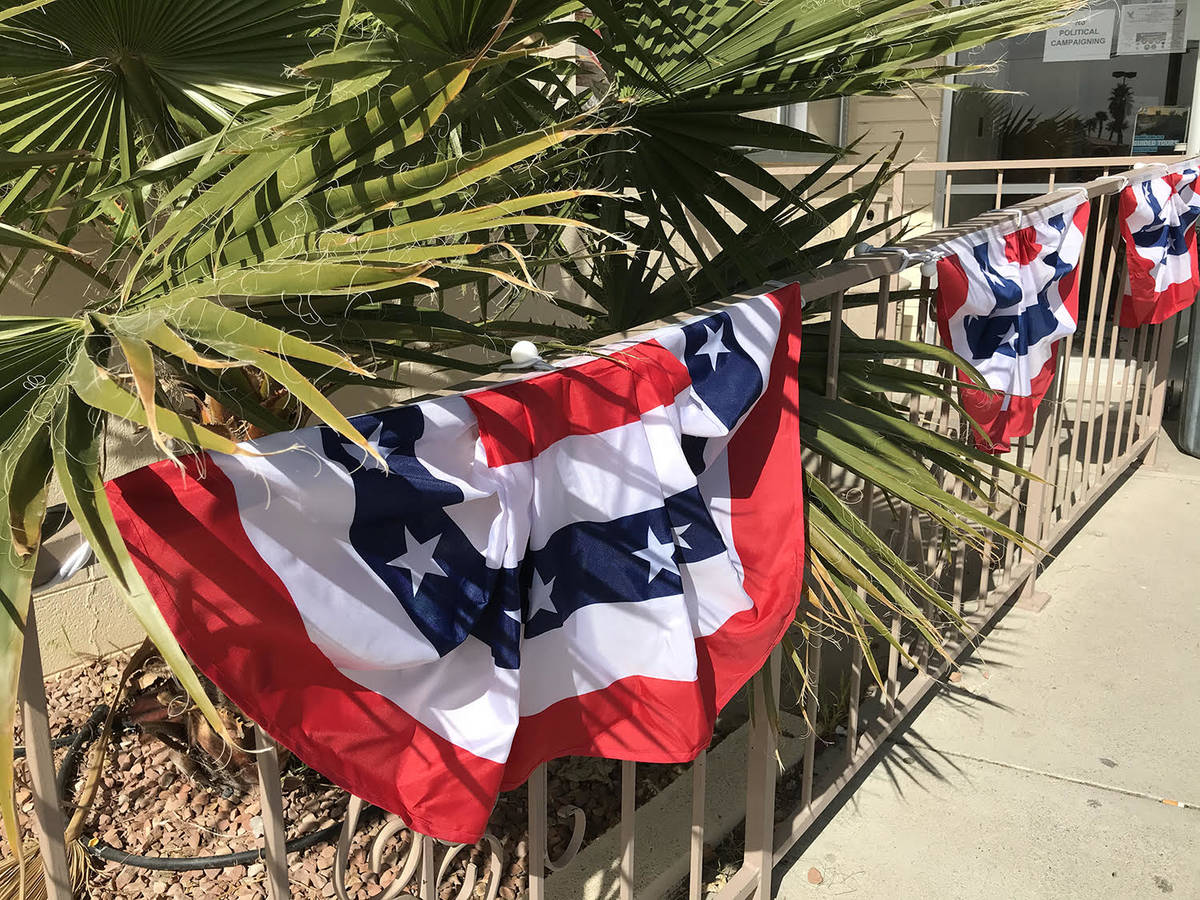 Robin Hebrock/Pahrump Valley Times The entrance to the Bob Ruud Community Center was decked out ...