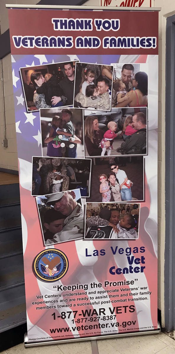 Robin Hebrock/Pahrump Valley Times The Las Vegas Vets Center was just one of the 41 vendors tha ...