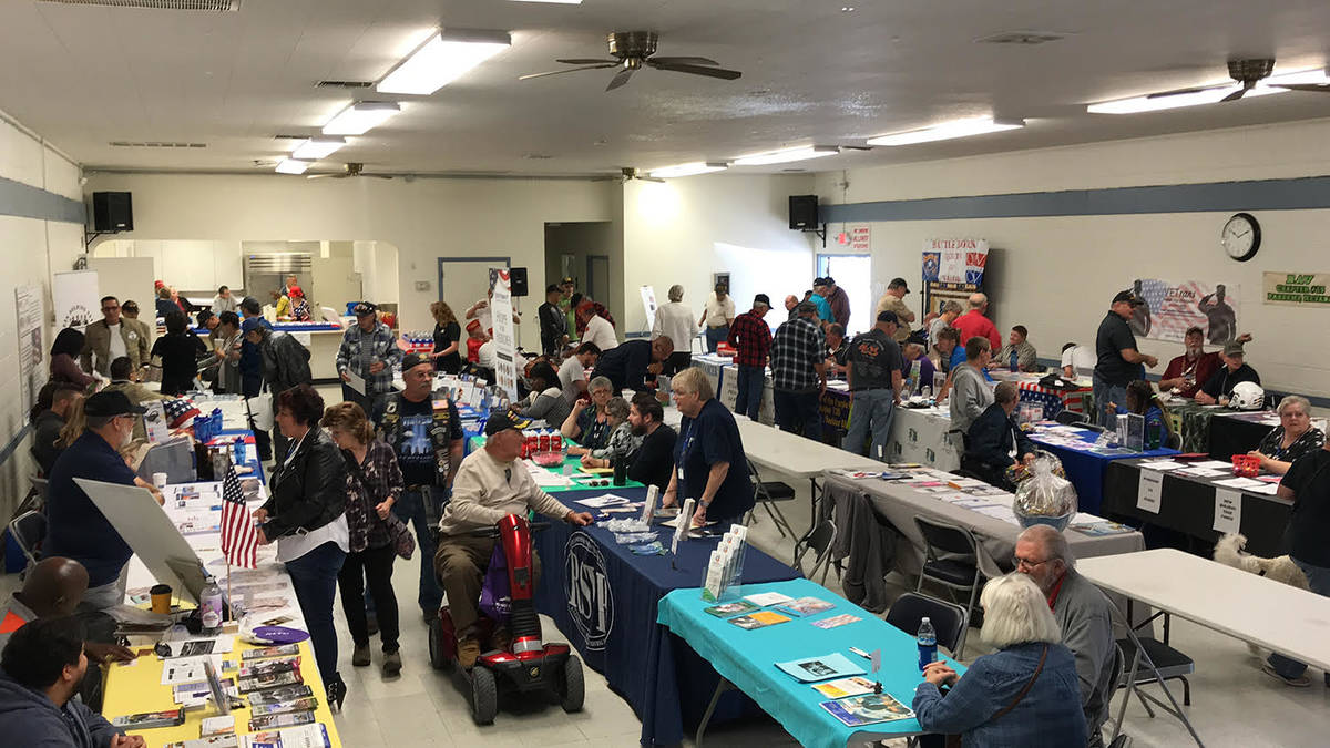 Robin Hebrock/Pahrump Valley Times The Bob Ruud Community Center was packed on Friday, March 6 ...