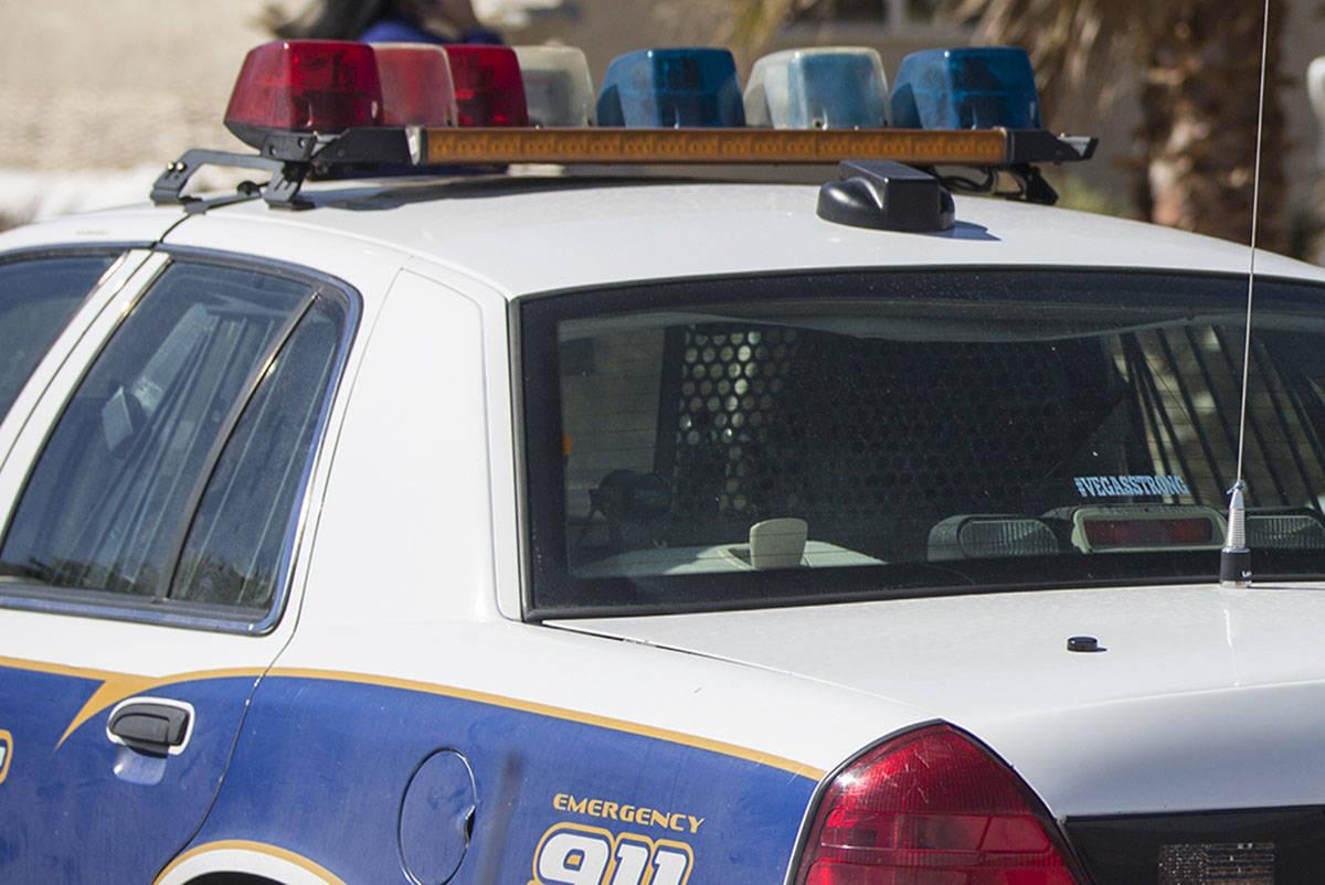 Nye County Sheriff vehicle. (Benjamin Hager/Las Vegas Review-Journal) @benjaminhphoto