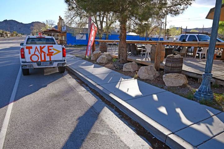 Richard Stephens/Special to the Pahrump Valley Times A couple of restaurants have put up make-s ...