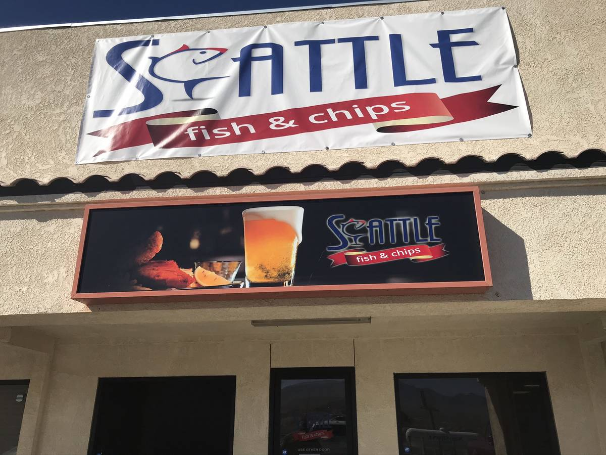 Jeffrey Meehan/Pahrump Valley Times Seattle Fish and Chips opened in late 2019 in Pahrump. The ...