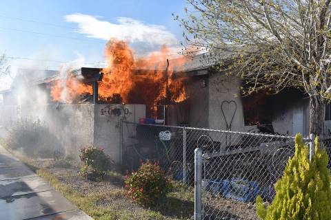 Special to the Pahrump Valley Times On Monday, March 16, fire crews were dispatched for a repor ...