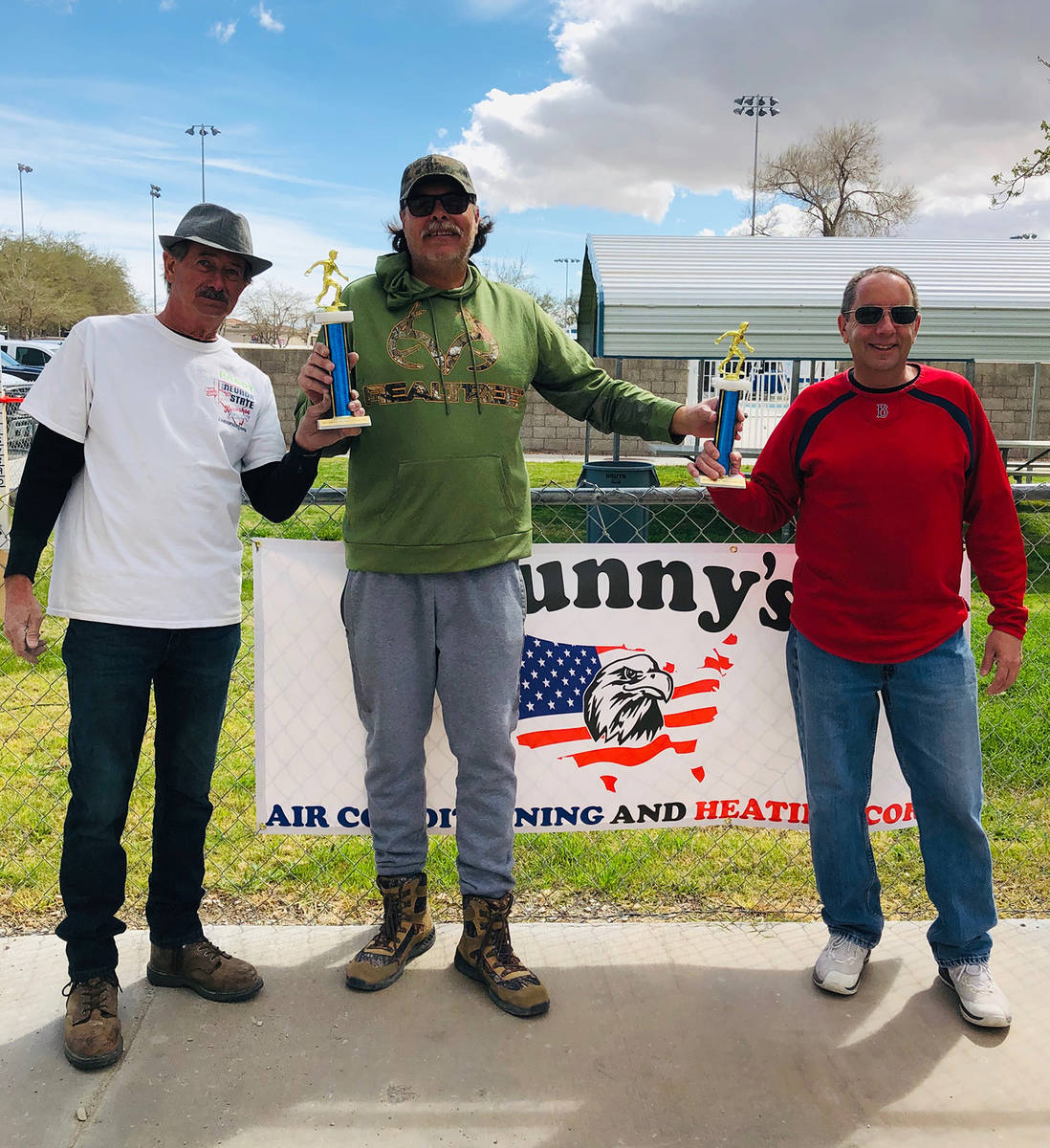 Cindy Barefield/Special to the Pahrump Valley Times Randy Salzwimmer, left, and Joe Kalache, ri ...