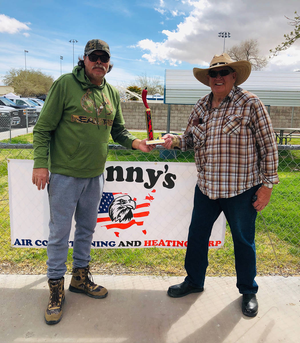 Cindy Barefield/Special to the Pahrump Valley Times Dennis Andersen, who teamed with Mike Norto ...