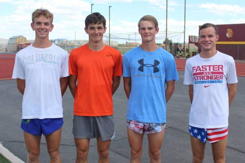 Pahrump Valley Times file From left, Layron Sonerholm, Michael Sonerholm, Grant Odegard and Bry ...
