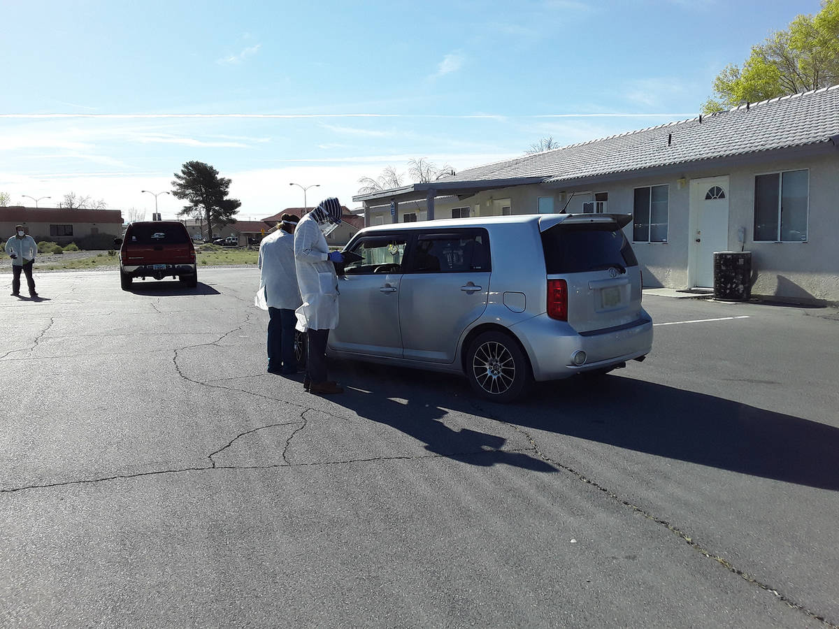 Selwyn Harris/Pahrump Valley Times Taken the morning of Tuesday, March 31, this photo shows doc ...