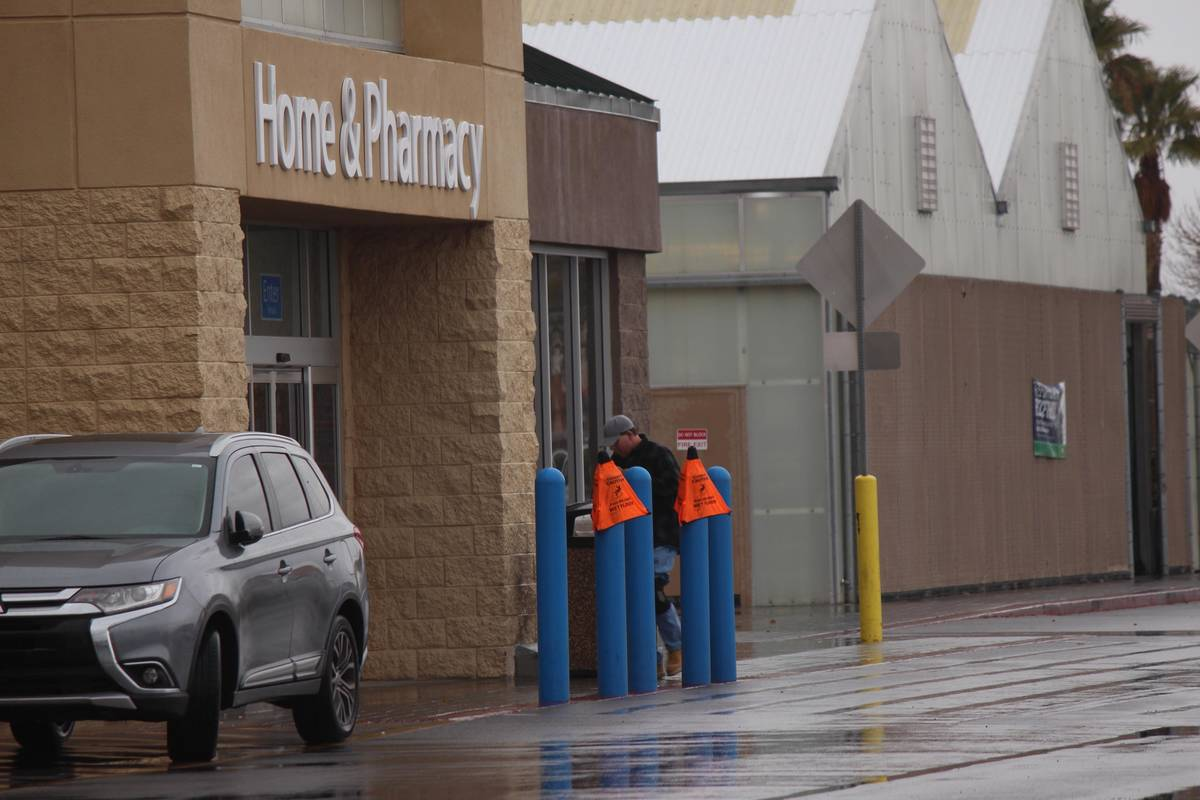 Jeffrey Meehan/Pahrump Valley Times file Walmart implements new policies to mitigate the spread ...