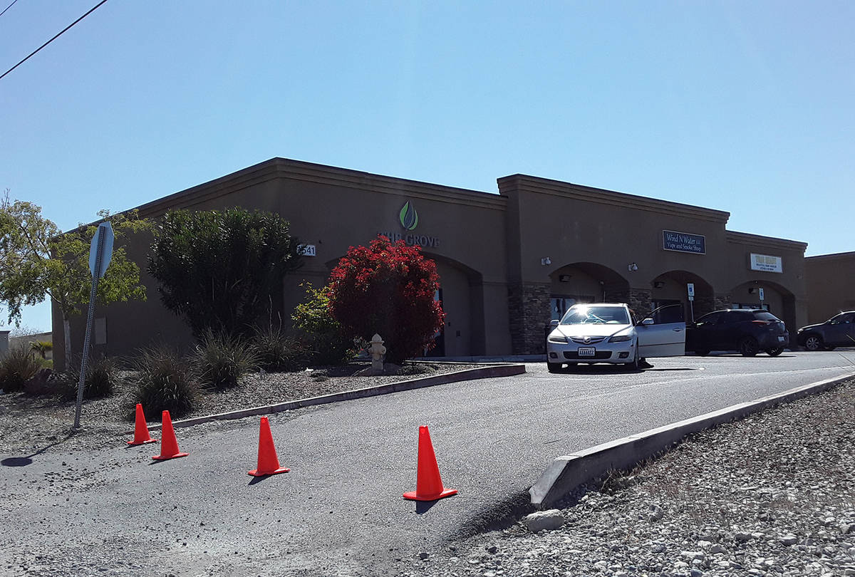 Selwyn Harris/Pahrump Valley Times Pahrump's Grove cannabis dispensary is now offering home del ...