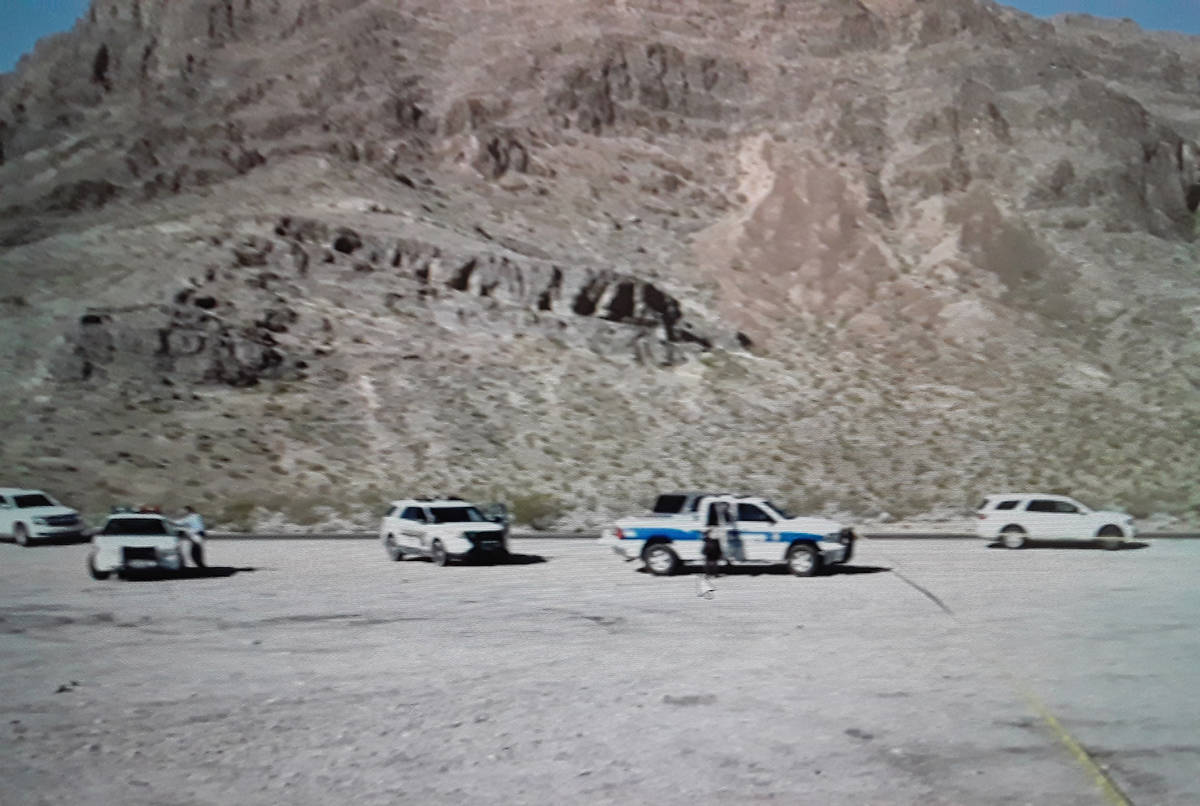 Special to the Pahrump Valley Times The body of a deceased female was discovered inside a white ...