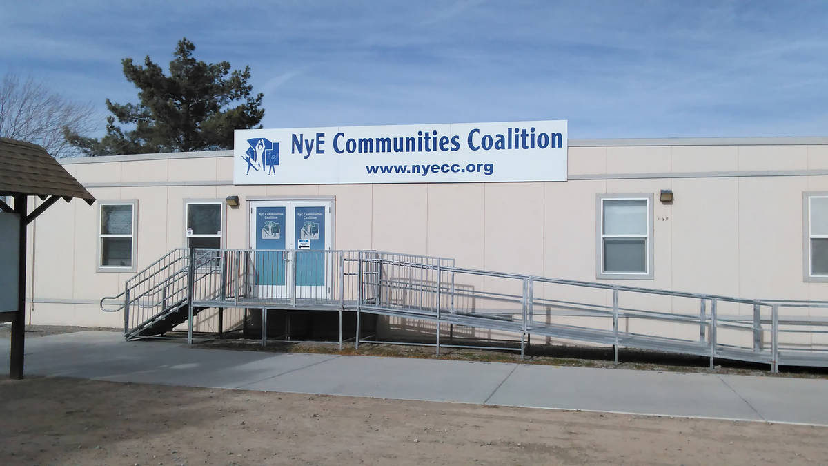Selwyn Harris/Pahrump Valley Times The NyE Communities Coalition may have had to close its cam ...