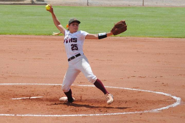 Pahrump Valley Times file Pahrump Valley junior Allyson Rily was in the circle when the Trojans ...