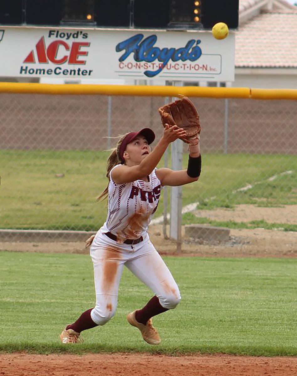 Pahrump Valley Times file Skyler Lauver and the Pahrump Valley High School softball team would ...