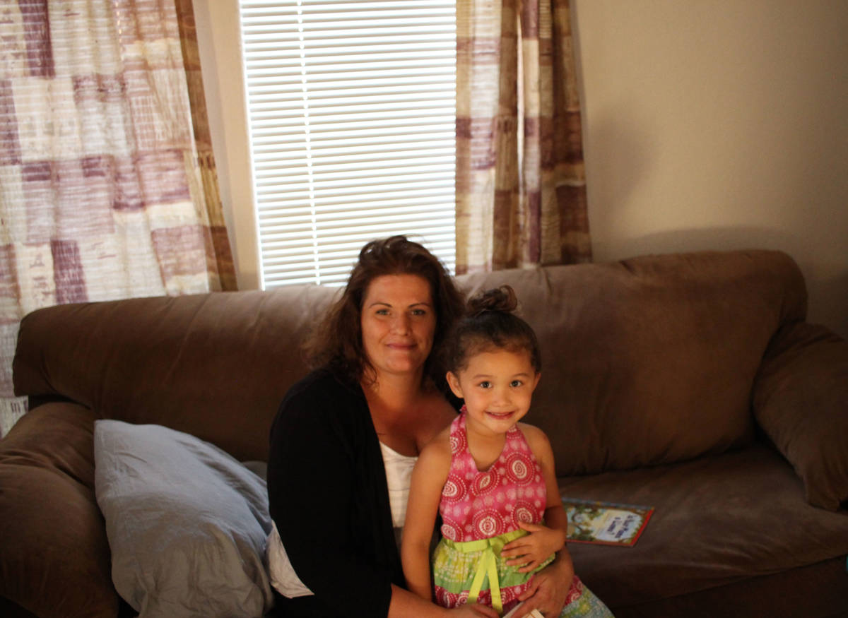Jeffrey Meehan/Pahrump Valley Times Brandi Johnson (left), and her daughter (right), are part ...
