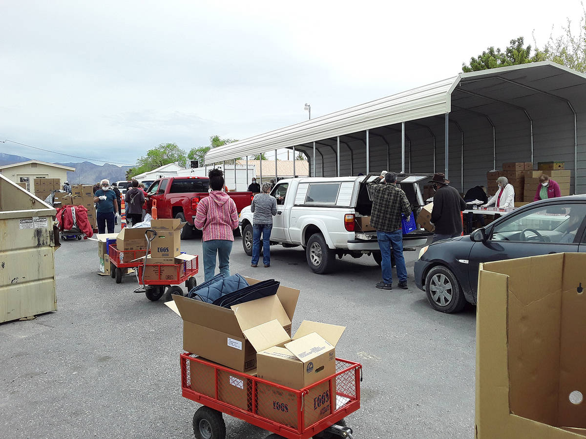 Selwyn Harris/Pahrump Valley Times More than a dozen individuals volunteered their time to help ...