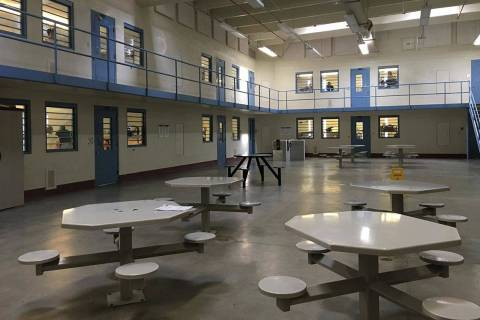 Brooke Santina/Nevada Department of Corrections A recreational area for inmates at Florence McC ...