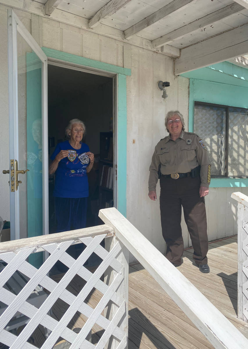 Special to the Pahrump Valley Times Nye County Sheriff Sharon Wehrly provided a special birthda ...