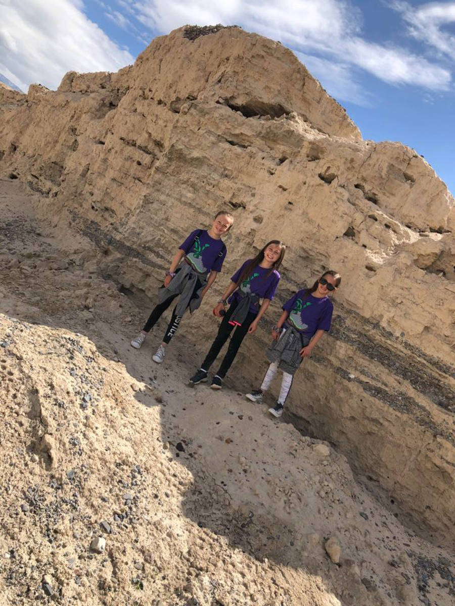 Special to the Pahrump Valley Times Shaunna Crawford and her three girls took to the trails as ...